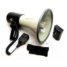 Громкоговоритель рупорный РМ-25СПА c USB/SD/MP3/AUX/запись 2 мин/аккумулятор