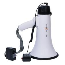 Ручной мегафон РМ-20СЗА с литиевым аккумулятором (речь, запись, сирена)