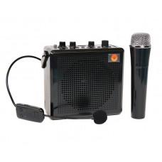 Комбо усилитель мини  РМ-91 с двумя беспроводными микрофонами