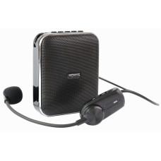 Мегафон с беспроводным микрофоном П-41 съёмный АКБ, 40 Вт, MP3, USB, mSD, bluetooth, запись, AUX.