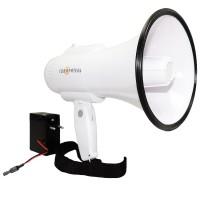 Ручной мегафон с записью, речь, сирена РМ-14СЗ (аккумулятор и з/у в комплекте)